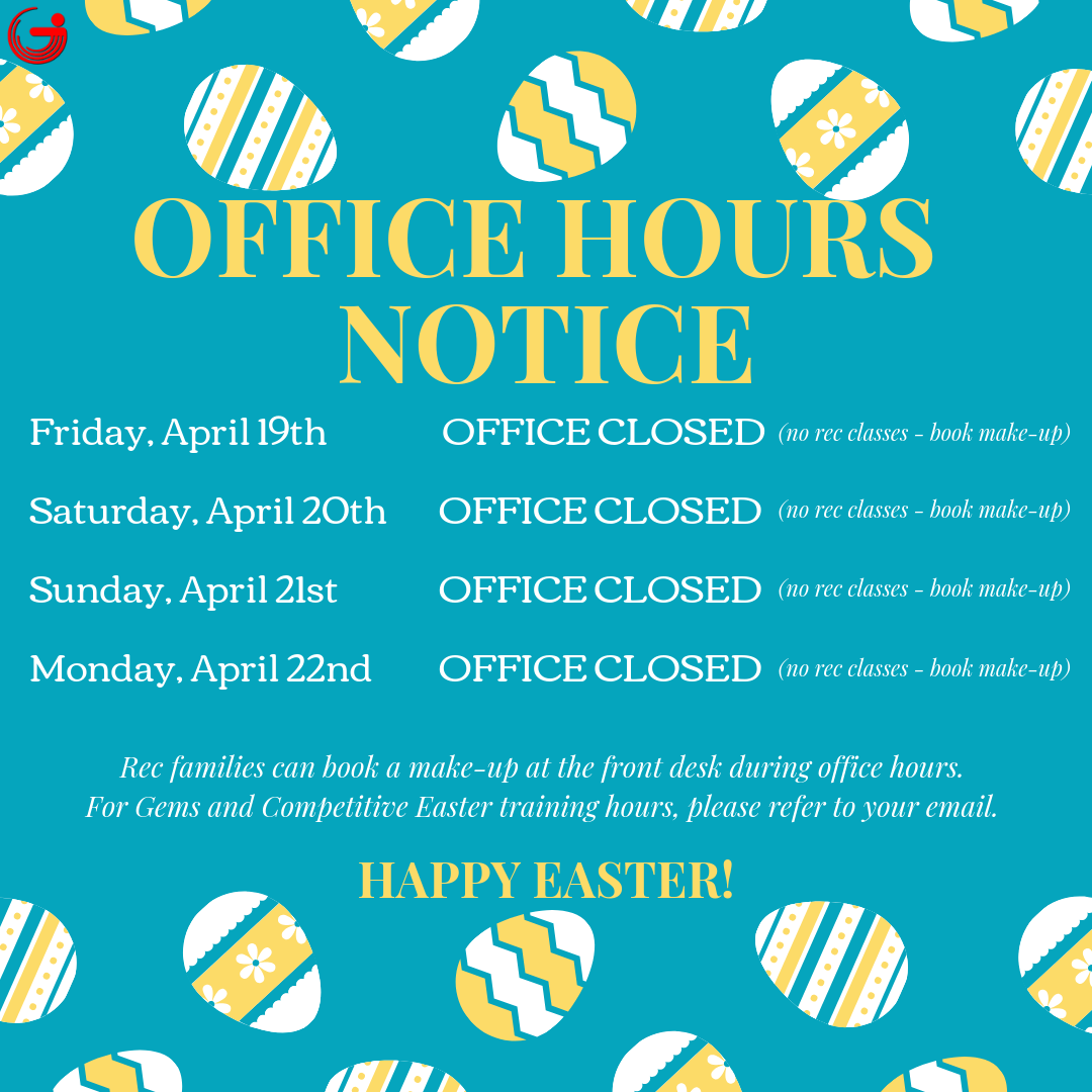 Easter Weekend 2019 Office Hours Notice